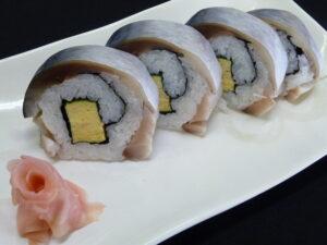 真鯖の裏巻き鮨