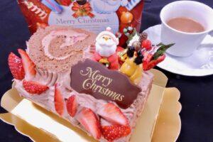 クリスマススイーツの定番ブッスシュド•ノエルと ショコラ•ショーを作ります